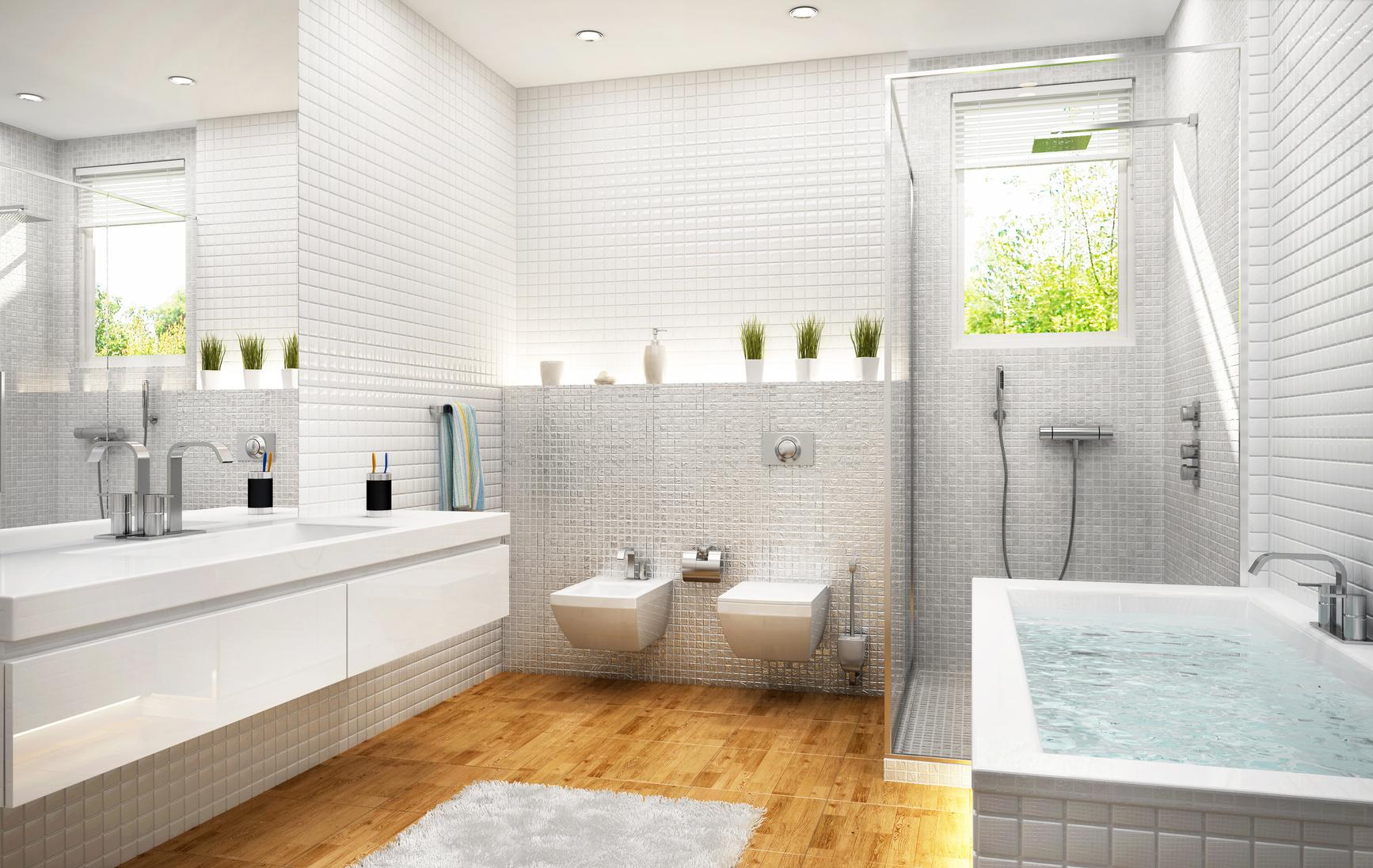 Edles f r badezimmer parkett in sanit rr umen stefan beiwinkler - Edle badezimmer ...